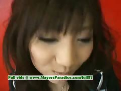 Akari Satsuki innocent lovely asian girl gets nipples licked and posing