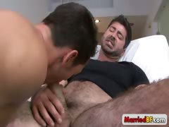 Hot gay stud fucking and sucking hairy guy part4