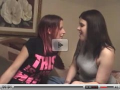 long tounged lesbian deep passionate kissing