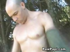 Gay army men fucking outdoors