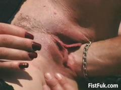 Brunette mature whore fucked on terrace part1