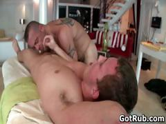Hunky guy gets oiled up and gay massaged part5