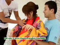 Miina hot babe stunning asian doll gets nipples licked and pussy fingered
