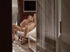 Luxury sex with elegant babe on a chair