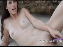 Sand in the charming babes pussy