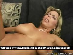 Mature busty blonde slut gets her pussy and ass fucked