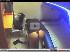 Voyeur webcam nude girl in solarium part4