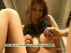 Rui Shiina innocent asian girl gets nipples licked and posing