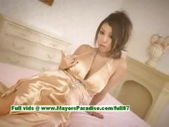 Romihi Nakamura innocent asian girl gets nipples licked and posing