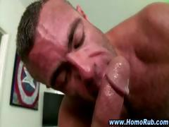 Straight guy gay masseuse ass fuck cumshot facial