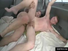 Tattoed guy fucks  in the ass