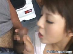 Frustrated Asian lady has public sex jav part4