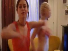 two ultra sweet naked dancing lesbians