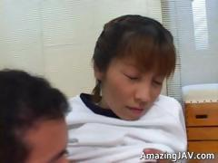 Sexy japanese girl sucking her doktors part2