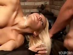 Straying bend over buddy with an erotic poon gets screwed on a chair