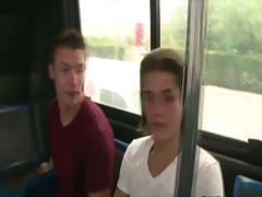 Guy is eager to start sucking dick as he gets on the bus