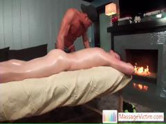 Guy gets his mouth stuffed during massage part2