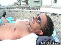 Cute guy rides some big fat black cock part5