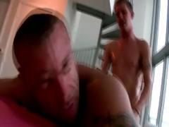 Straight guy gay bear cumshot