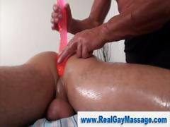 Gay straight dildo play