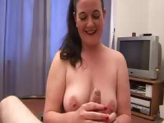 Mature babe frantic on my cock and balls