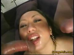 Shaved asian girl sucking and fucking part5