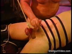 Nasty and extreme cock and ball torture in this gay BDSM action