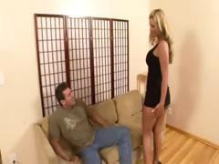 Busty blonde Phoenix Marie blows him and then gets drilled