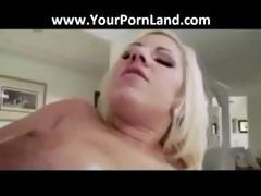 HOT BIG TIT BLONDE BABE IS MASSAGED AND FUCKED