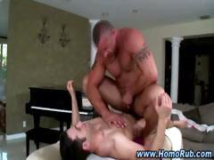 Gay straight massage table fuck cumshot