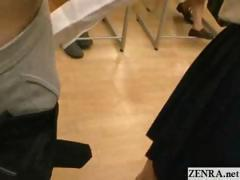 Naked in school Japan students public group blowjob