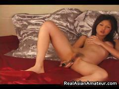 Beautiful asian amateur naked dildoing part6