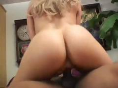 Blonde Tia Sweets gets that big black cock to go deep in her ass